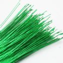 Florist wires, green, 0.4mm (approximate), 20 pieces, 80cm, Gauge 26, (TS036)